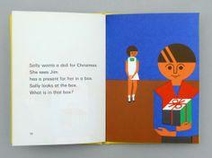 The Christmas Tree (First Steps In Reading) by Kathleen Brooks, illustrated by Fredun Shapur, Benn, London,1966 #FredunShapur