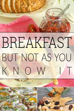 Breakfast ideas - a few ideas that are a bit different!