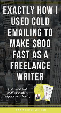 cold pitching emailing as a freelance writer
