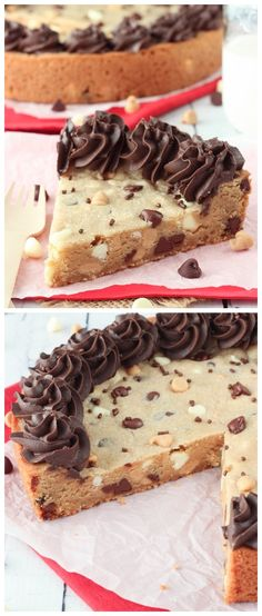 Triple Chocolate Chip Cookie Cake Recipe