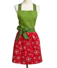 Festive Snow Flurry Apron - could definitely sew something similar