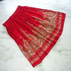 Roter Minirock: Kurzer Boho Rock böhmische indischen von DelhiDaze