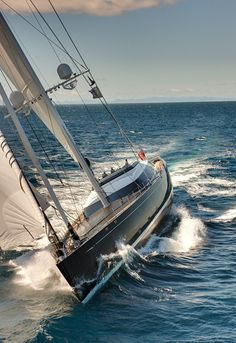 Kokomo - 192ft sloop by Alloy Yachts. #boatsdotcom