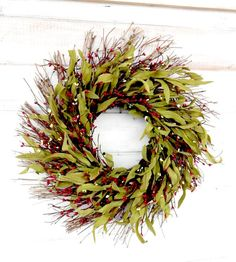 Summer Wreath-Summer Door Wreath-Rustic Home Decor-Twig Wreath-RED Twig Wreath-Fall Wreath-SCENTED Wreaths -Custom Wreaths-Choose Scent