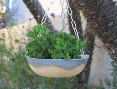 Hanging Planter handmade ceramic planter by ManuelaMarinoCeramic