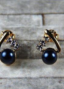 Aros de pelar oscura Pearl Earrings, Brooch, Pearls, Jewelry, Gold, Jewelery, Brooch Pin, Jewellery Making, Pearl Studs