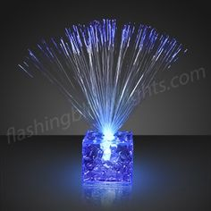 Light Up Centerpieces | LED Small Blue Centerpieces dazzle table tops by FlashingBlinkyLights.com