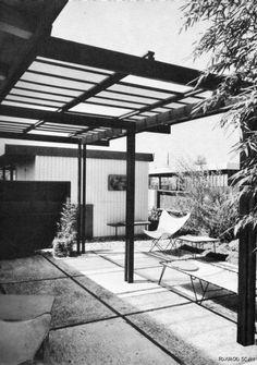 mid century modern deck design