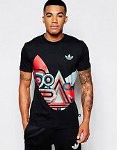 47025701f74 adidas Originals T-Shirt With Multi Shape Print AB9596 at asos.com
