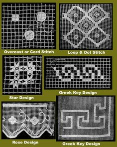 How to make filet lace