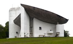 How beautiful is this Le Corbusier. Chapelle Notre Dame du Haut, probably his most famous.