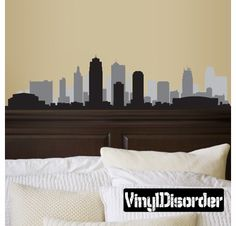 Kansas Missouri Skyline Vinyl Wall Decal or Car Sticker SS099