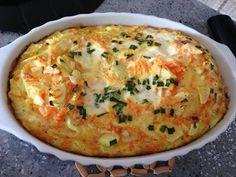 Ometele light de forno com abobrinha - Bavaresco