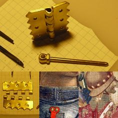 Loose pin/hinge type closure Reproduction top & bottom left 15th century artistic examples bottom center & bottom right