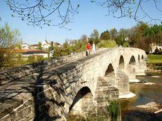 Alte Thurbrücke (Roman bridge), Bischofszell, Switzerland.