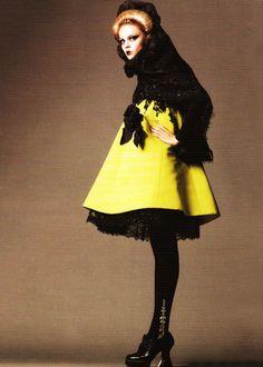Viktoriya Sasonkina in Christian Dior Haute Couture   Ph. by Terry Tsiolis  Russian Vogue December 2008