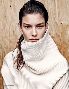 Vogue Russia September 2014 Photographer: Jason Kibbler Stylist: Olga Dunina Hair: Kevin Ryan Makeup: Justine Purdue Model: Ophelie Guillermand Source: The Fashionography OK, so this is one of the most… Knit Fashion, Fashion Models, High Fashion, Fashion Trends, Ellen Von Unwerth, Tim Walker, Paolo Roversi, Isabel Marant, Vogue Cover