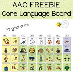 32 grid core language board freebie pdf file This is part of a full flip communication book. Find it here: High Level Flip Communication Book Have a student that needs more support? Try the Low Level Flip Communication Book Just want the Boardmaker templates to customize your own? Flip Communi... Speech Therapy Activities, Speech Language Pathology, Language Activities, Speech And Language, Sign Language, Teachers Pay Teachers Freebies, Toddler Speech, Communication Book, Preschool Special Education