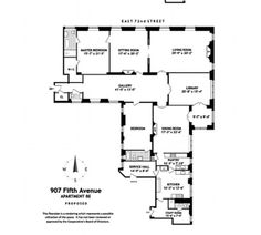 Floor-plan: The last remaining Clark apartment has two bedrooms, two bathrooms and a library