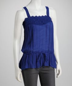 Loving this Simply Irresistible Lapis Crocheted Tank on #zulily! #zulilyfinds