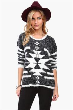 Fuzzy Boulder Sweater