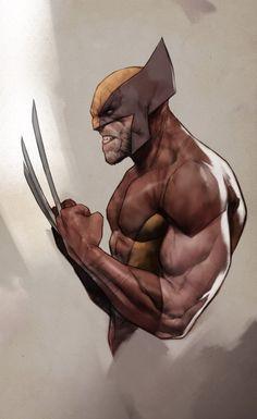 Wolverine by Ben Oliver * Marvel Comics Superheroes, Marvel Art, Marvel Heroes, Marvel Characters, Comic Art, Comic Books Art, Cosplay Games, Ben Oliver, Rogue Comics