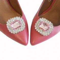 Baby Pink Diamante Shoe Clips Diamante Shoes, Shoe Clips, Slippers, Flats, Jewellery, Pink, Baby, Fashion, Loafers & Slip Ons