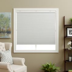 Keep your room completely dark with these white cellular blackout shades. The innovative honeycomb shell design also seals your windows to better regulate room temperature, and the optional outside installation makes these cordless shades convenient.