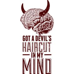 Devil's Haircut is a T Shirt designed by ohzemesmo to illustrate your life and is available at Design By Humans