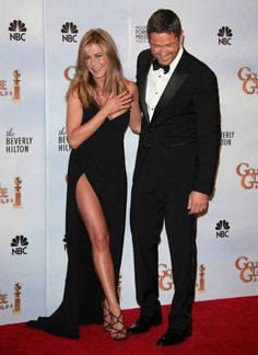 "Jennifer Aniston showing ""the leg"", eat your heart out Angelina."