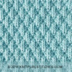 Seersucker stitch is easy, just knit and purl, and is lovely and squishy. Pattern includes written instructions and chart.