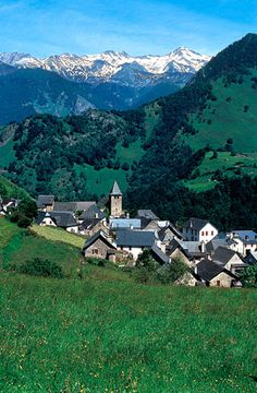Village in the Pyrenees, France