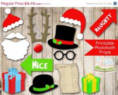 INSTANT DOWNLOAD CHRISTMAS PHOTO BOOTH PROPS . Just click and print!