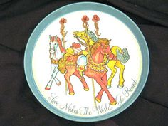Love Makes the World go Round Carousel Tin Serving by ChinaGalore, $20.00