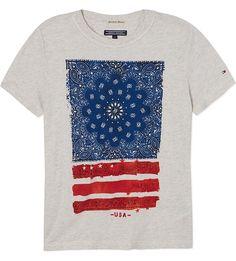 TOMMY HILFIGER Bandana t-shirt 4-16 years (Grey