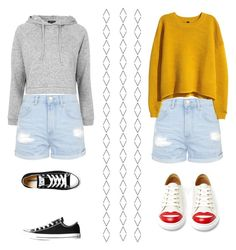 """""""6/9/1998"""" by kikiindianna on Polyvore featuring Topshop, H&M, Charlotte Olympia and Converse"""