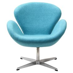 WING LOUNGE CHAIR IN BABY BLUE - Mocofu