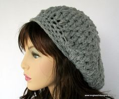 crochet slouchy hat pattern Washington Street Slouchy Hat for women and teens permission to sell finished product. $4.99, via Etsy.