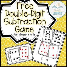 Double-Digit Subtraction Card Game – Line upon Line Learning To get extra practice in double-digit subtraction beyond the worksheets, I decided we had shake things up a bit with a playing cards game! Subtraction Activities, Math Activities, Numeracy, Subtraction Regrouping, Subtraction Strategies, Multiplication Worksheets, Math Strategies, Math Stations, Math Centers