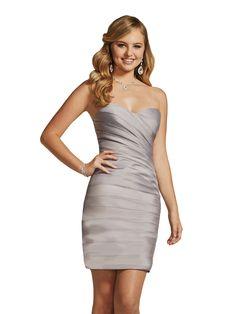 Damas 52316 Strapless Short Sheath Formal Dress