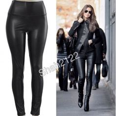 """Black Faux Leather leggings high waist New sexy ❌PLEASE DON'T BUY THIS LISTING, COMMENT ON SIZE NEEDED FOR SEPARATE LISTING. ❌ Black Sexy Vegan Faux leather leggings. Perfect fit  High waist Medium weight Lightly soft Fleece-lined These are Very Stretchy Fabric Content : 65% Polyester + 35% Cotton Measurements laying flat Unstretched to stretched (Inseam = 27-28"""") (Total Length= 38-39"""") (Front Rise = 12"""") (Back Rise =14"""")  (Small Waist =11-13"""") (Medium Waist =12-14"""") (LargeWaist =13-15"""") (XL…"""