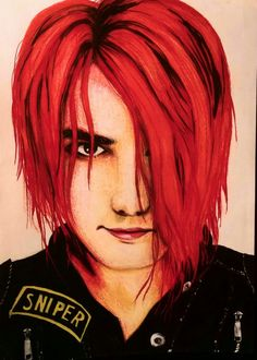 Gerard Way colored pencil