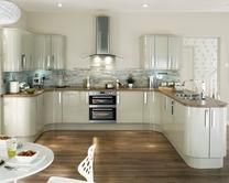 Glendevon Flint Grey Kitchen Range | Kitchen Families | Howdens Joinery. with walnut surfaces ...undecided on floor