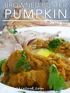 Pumpkin in Browned Butter Recipe. Low carb LCHF Keto substitute for mashed sweet potatoes!