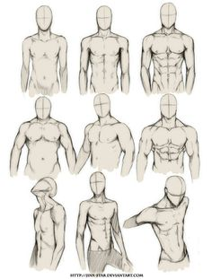 male body types/ poses                                                                                                                                                                                 More