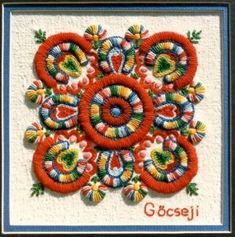 Folk Embroidery Hungarian embroidery/e. Hungarian Embroidery, Folk Embroidery, Learn Embroidery, Chain Stitch Embroidery, Embroidery Stitches, Embroidery Patterns, Stitch Head, Textiles, Embroidery Techniques
