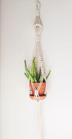 Macrame sola planta suspensión Vintage