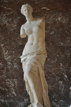 1. Venus de Milo  2. unknown  3. Hellenistic Greek / 150-100bce  4. marble  5. found on the island of Melos  6. The Louvre, Paris  7. none  8. Shows the hellenistic influence in the drapery and erotic tension.  9. yes  10. none