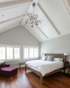 Benjamin Moore Gray Owl Paint Color Ideas - Interiors By Color Benjamin Moore Grey Owl, Benjamin Moore Bedroom, Grey Bedroom Paint, Blue Gray Bedroom, Modern Master Bedroom, Master Bedrooms, Bedroom Colors, Colours That Go With Grey, Light Grey Paint Colors