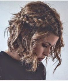 Romantic-Half-Up-Do-Wavy-Braided-Bob-Hairstyle